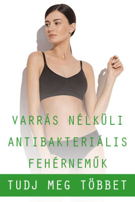 varrás nélküli, antibakteriális fehérneműk