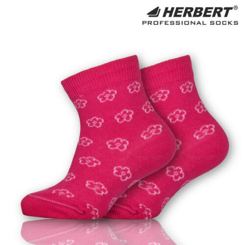 Herbert bébi bokazokni kis virág mintával