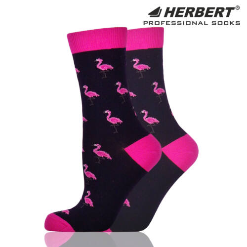 Herbert felnőtt bokazokni apró flamingó mintával