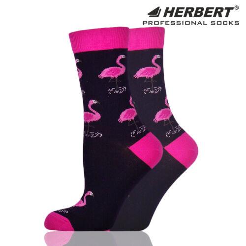 Herbert felnőtt bokazokni nagy flamingó mintával