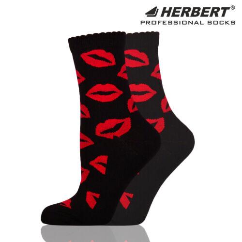 Herbert felnőtt bokazokni női száj mintával
