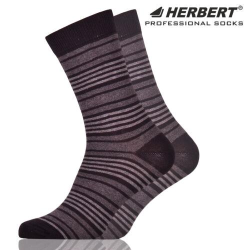 Herbert felnőtt bokazokni sötétszürke csíkozással