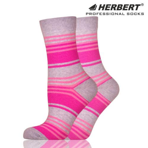 Herbert felnőtt bokazokni szürke-rózsaszín csíkozással