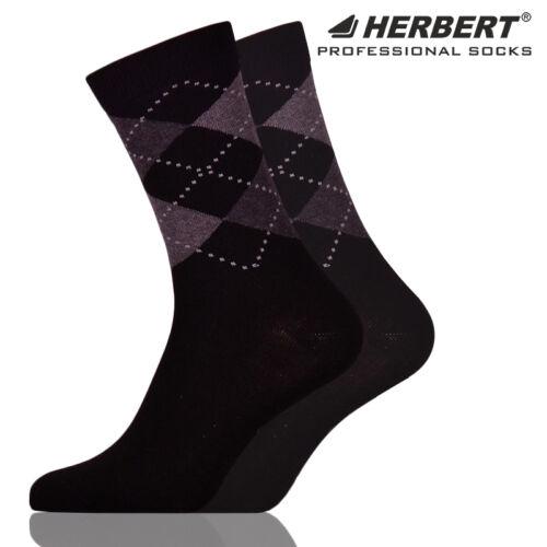 Herbert felnőtt bokazokni klasszikus fekete rombusz mintázattal