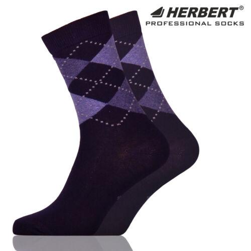 Herbert felnőtt bokazokni klasszikus sötétkék rombusz mintázattal