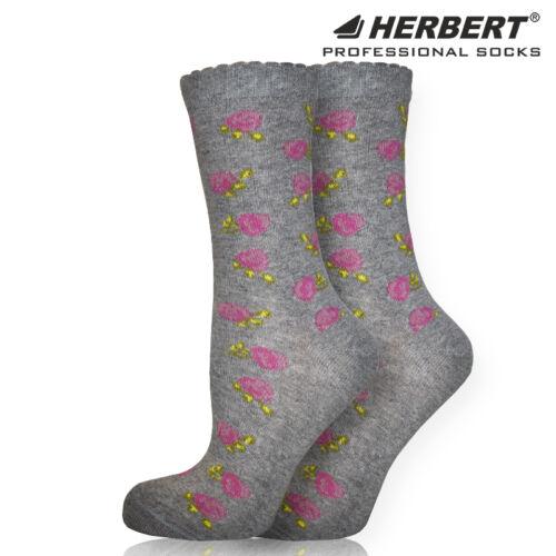 Herbert felnőtt bokazokni rózsás mintázattal