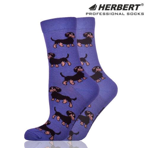 Herbert felnőtt bokazokni tacskó mintázattal