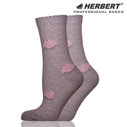 Herbert felnőtt bokazokni vékony ezüst csíkozással és rózsákkal