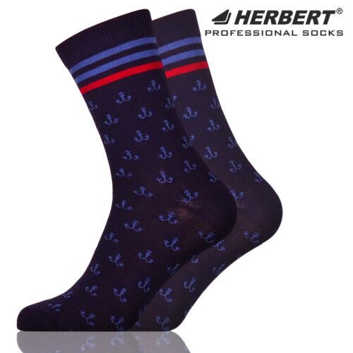 Herbert felnőtt bokazokni tengerészes vasmacska mintával