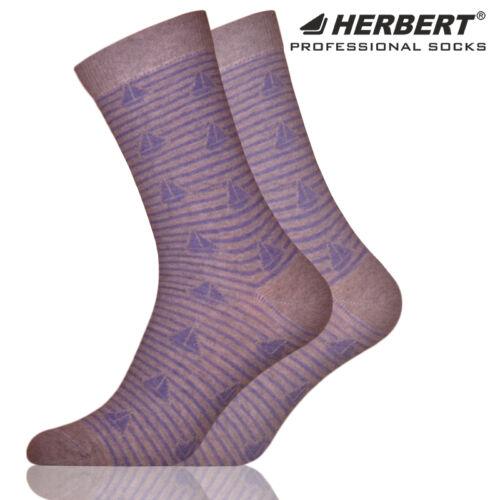 Herbert felnőtt bokazokni csíkos vitorlás mintázattal