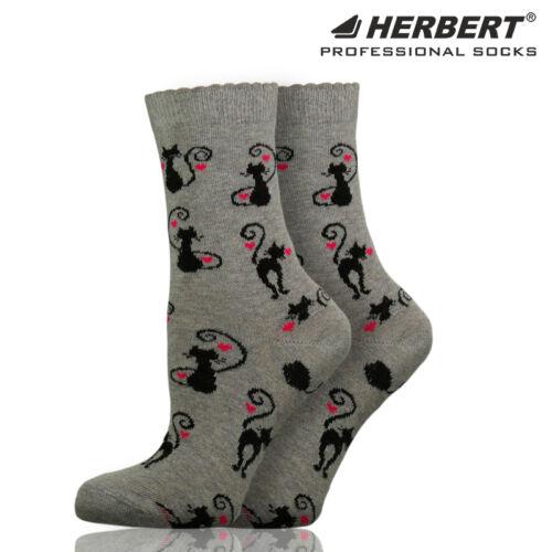 Herbert felnőtt bokazokni macska mintával