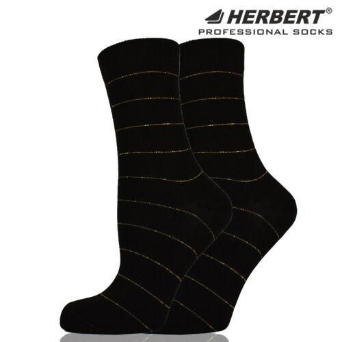 Herbert felnőtt arany csíkos mintás bokazokni