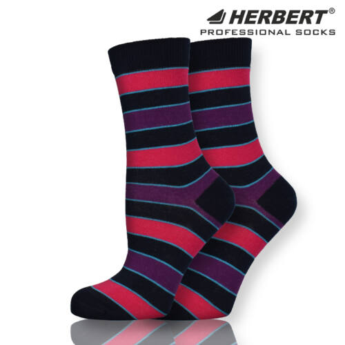 Herbert felnőtt csíkos mintás bokazokni