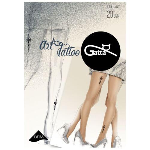 Gatta Art Tattoo 02 mintás 20 denes harisnya