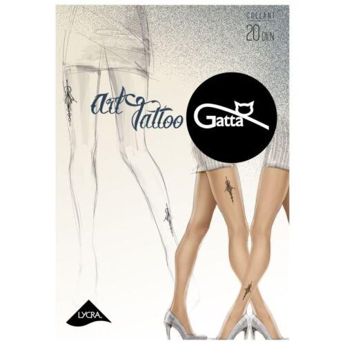 Gatta Art Tattoo 03 mintás 20 denes harisnya