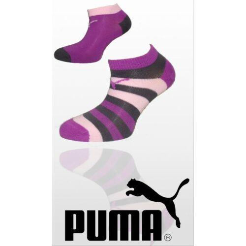 Puma titokzokni 2pár csíkos és egyszínű