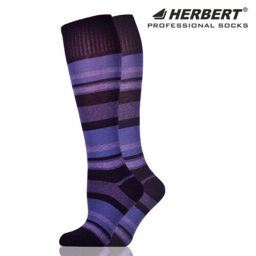 Herbert felnőtt térdzokni sötétkék csíkozással