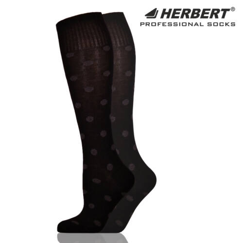 Herbert felnőtt térdzokni szürke pöttyökkel