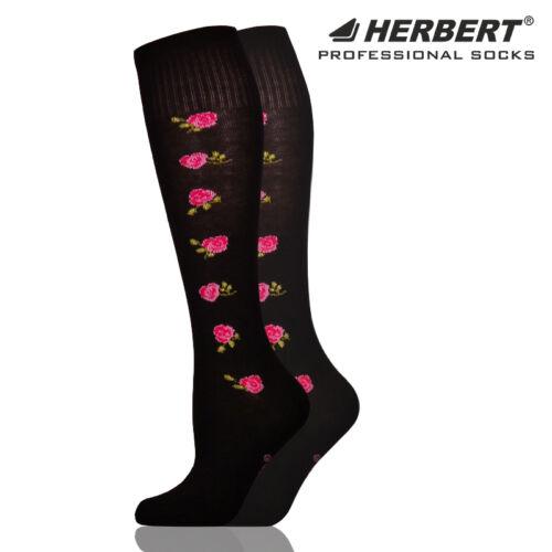 Herbert felnőtt térdzokni oldalt rózsa mintával