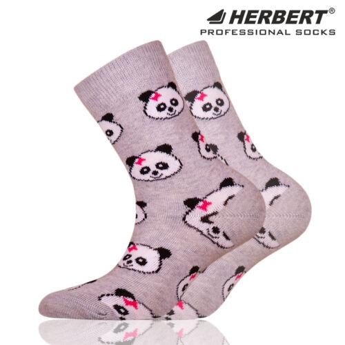 Herbert gyerek bokazokni lányos panda mintával