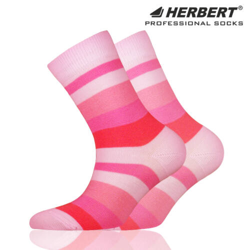 Herbert gyerek bokazokni rózsaszínes csíkozással