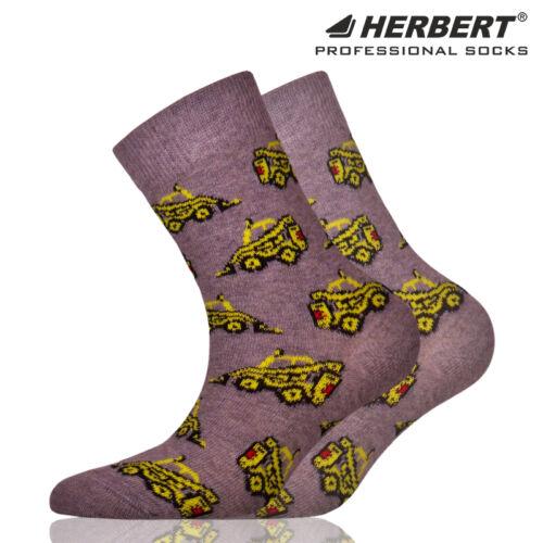 Herbert gyerek bokazokni sárga markoló mintával