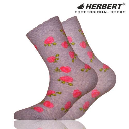 Herbert gyerek bokazokni rózsás mintázattal