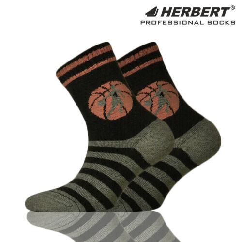 Herbert csíkos gyerek bokazokni kosárlabda mintával