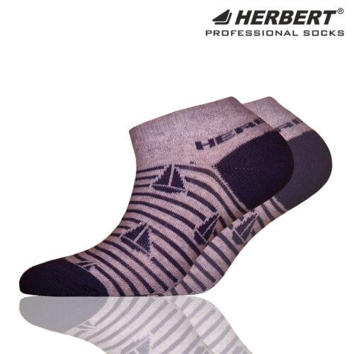 Herbert gyerek titokzokni szürke csíkos vitorlás mintával