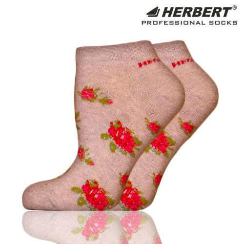Herbert felnőtt titokzokni szürke virág mintával
