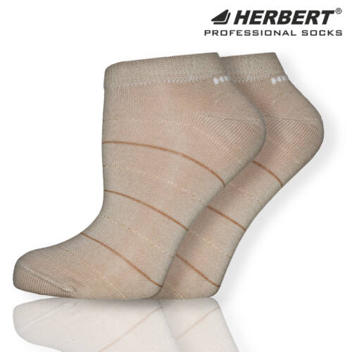 Herbert felnőtt titokzokni csillogó arany&barna csíkokkal