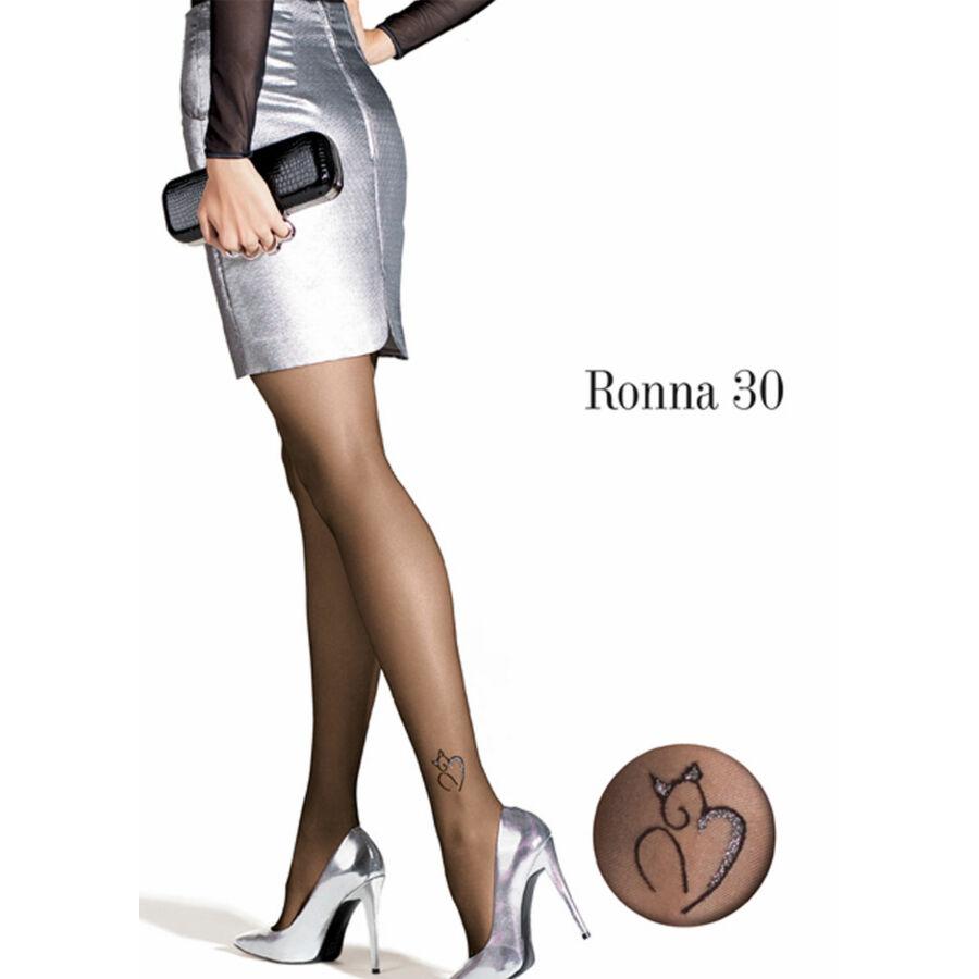 20 den RONNA 30 női mintás harisnyanadrág