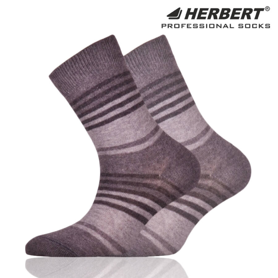 Herbert gyerek bokazokni szürke csíkozással