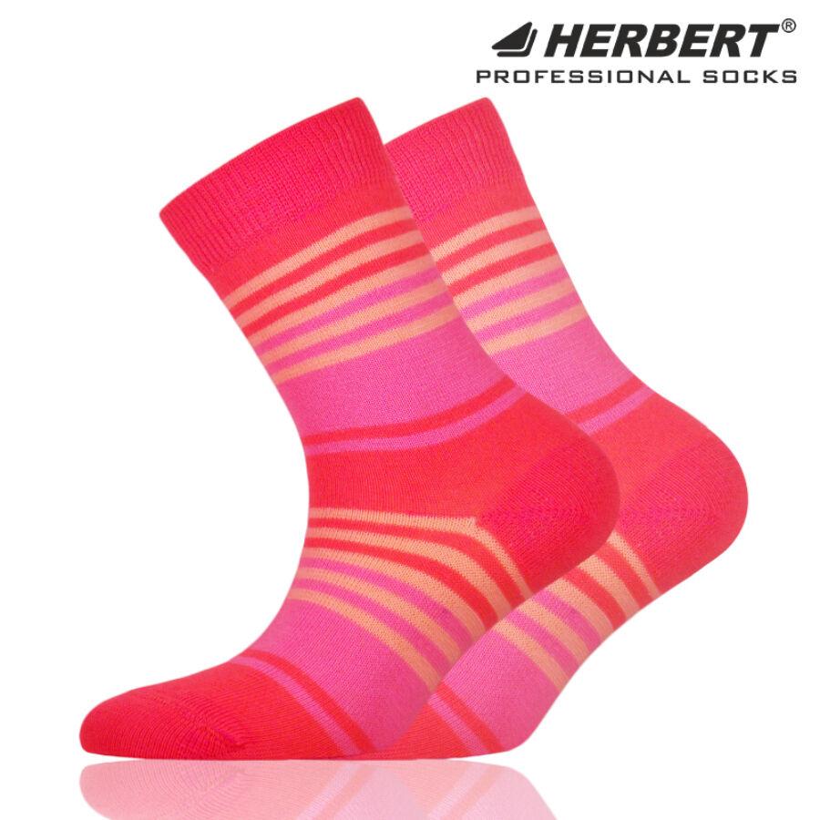 Herbert gyerek bokazokni lazac színes csíkozással