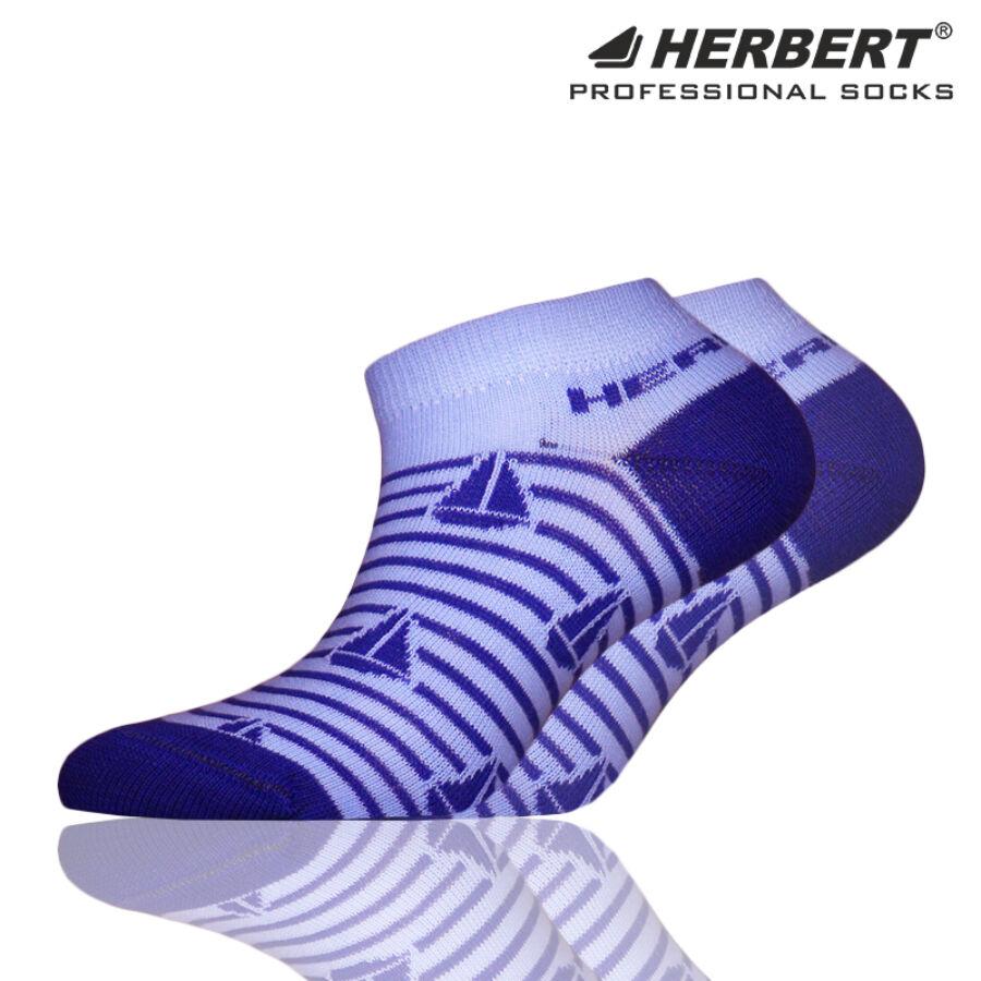 Herbert gyerek titokzokni kék csíkos vitorlás mintával