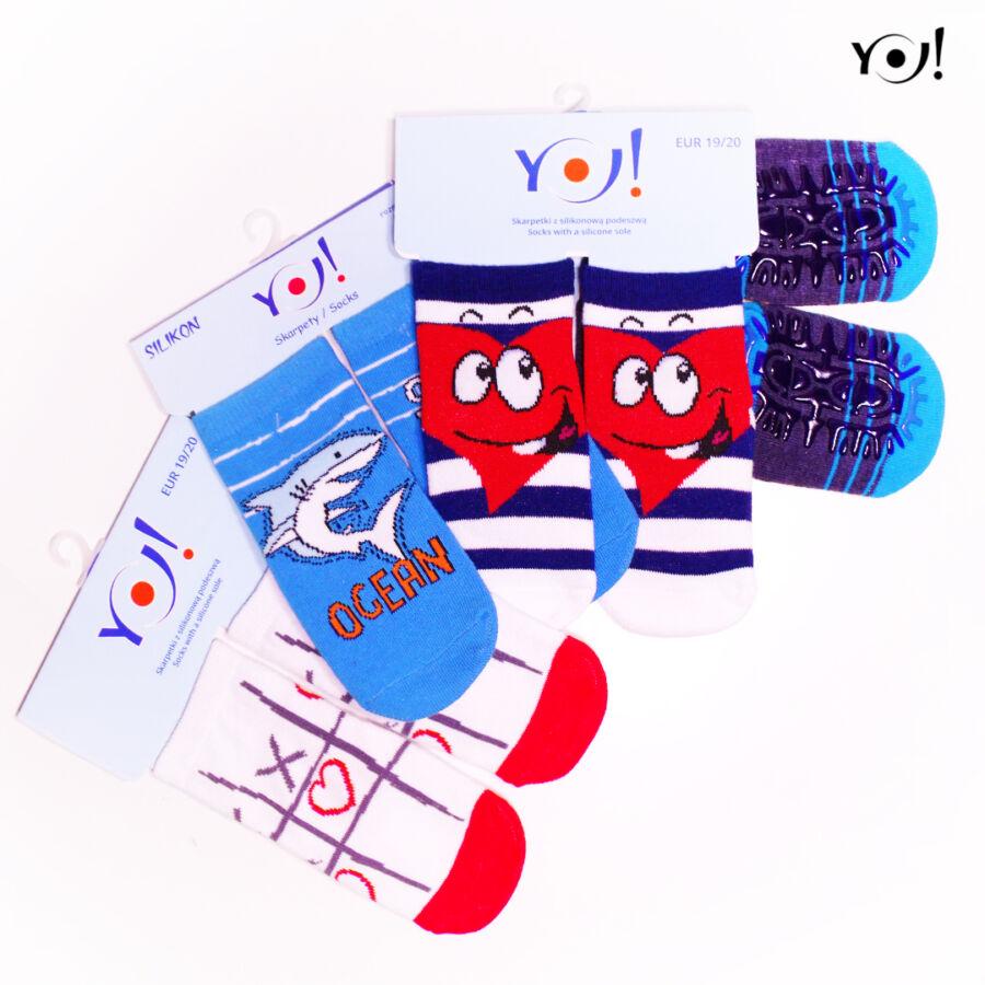 SK-10 szilikonos gyerek zokni