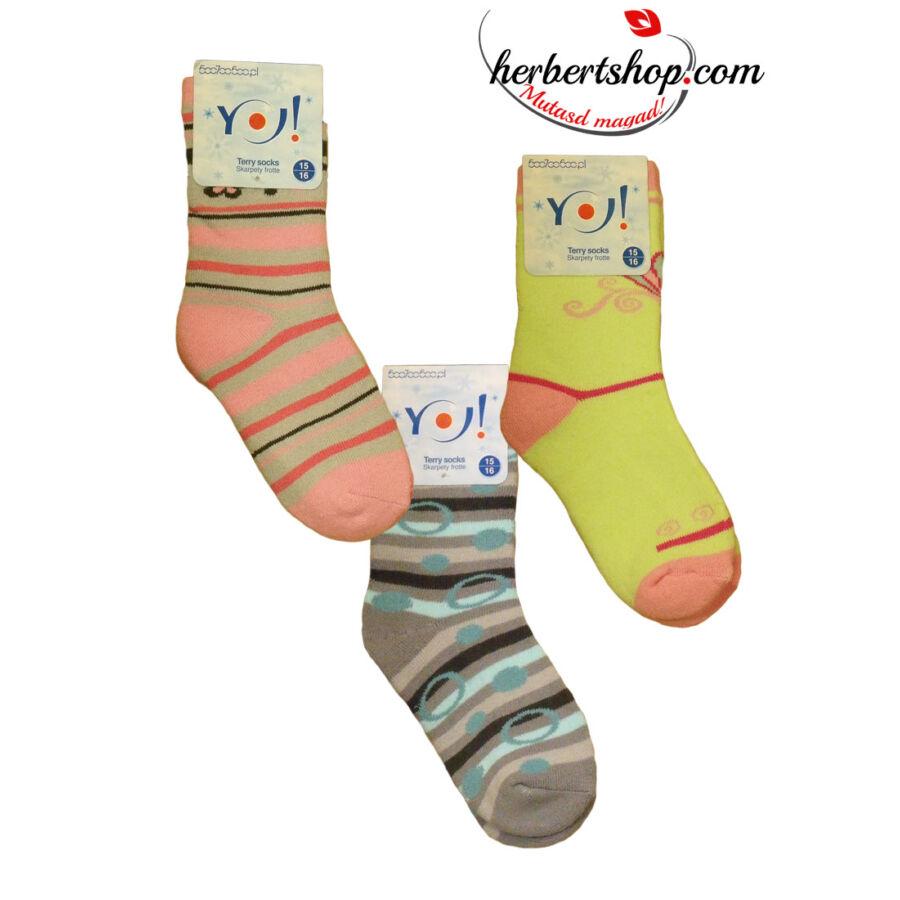 SKF-FRO frottír gyerek zokni